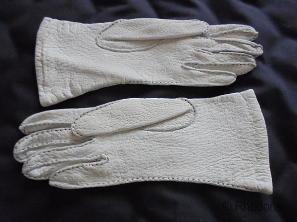 Vintage Leather Gloves, Circa 1950s