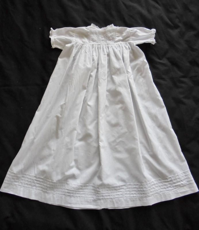 Whitework & Lace Baby Gown, Suitable For Doll Clothing