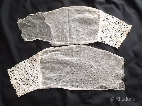Engageantes Sleeves With Honiton Lace Cuffs