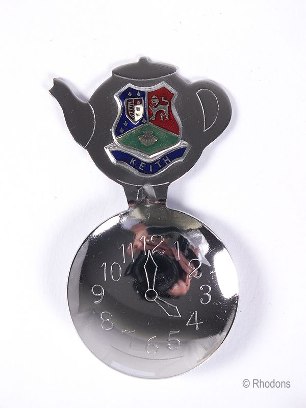 Scottish Souvenir Tea Caddy Spoon, Arms of Keith