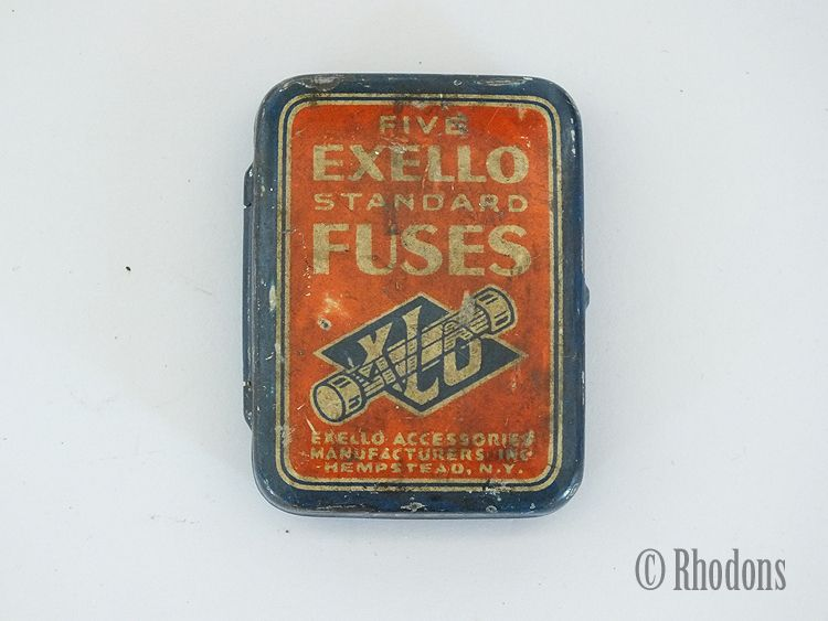 Fuse Tin, Exello Standard Fuses. Circa 1920s / 1930s