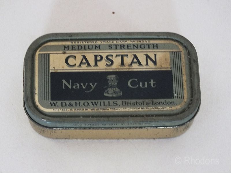 Tobacco Tin For Capstan Navy Cut Tobacco