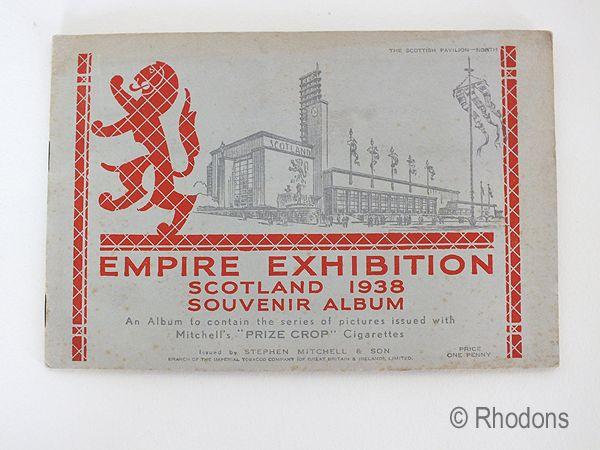1938 Empire Exhibition Scotland, Mitchells Prize Crop Cigarette Cards & Album