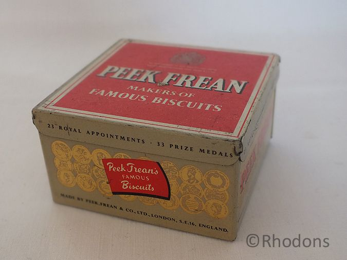 Peek Frean Biscuits Tin, Small Size, 1960s