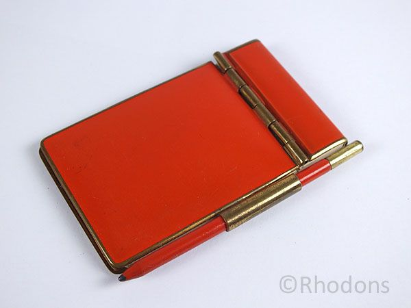 Gilt & Enamel Aide Memoire Notepad. Circa 1930s