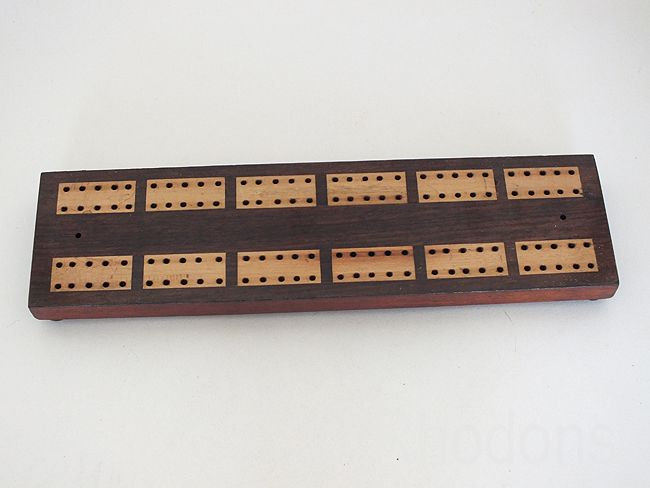 Wooden Cribbage Game Score Board