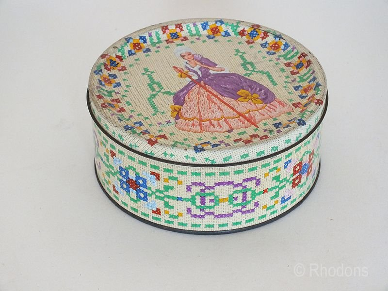 Crinoline Lady Toffee Tin For Milady Blackpool, England