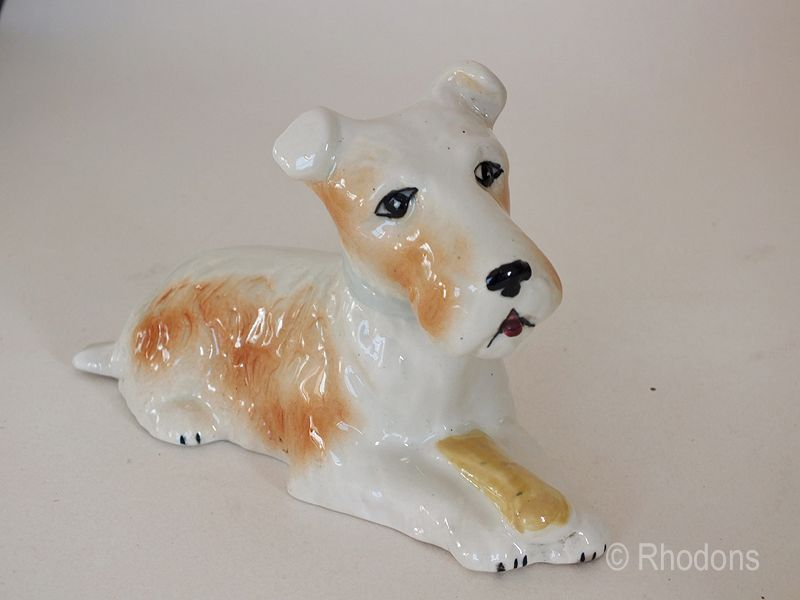 Terrier Dog Figure. Circa 1920s