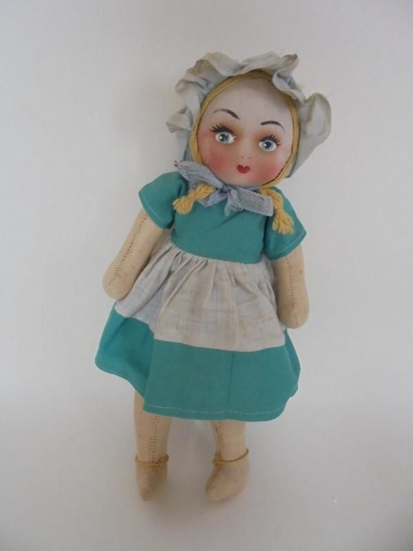 Mask Face Cloth Doll, Rag Doll, Circa 1930/40s