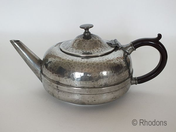 Knighthood Old English Pewter Tea Pot, Circa 1920s /1930s