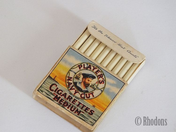 Miniature Replica Cigarettes Packet, Players Medium Navy Cut Tobacco