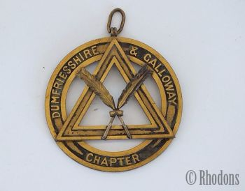 Scottish Masonic Pendant Collar Jewel, Dumfriesshire & Galloway Chapter