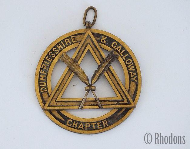 Scottish Masonic Pendant Collar Jewel, Dumfriesshire & Galloway Chapter