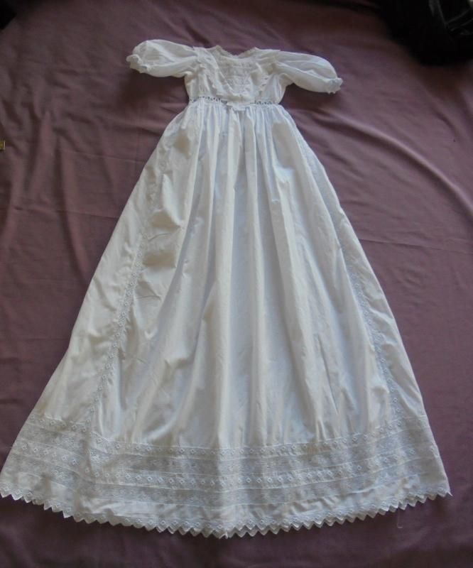 Victorian Baby Christening Gown / Robe. Small Size, Suitable For A Very Small Baby or Large Doll.