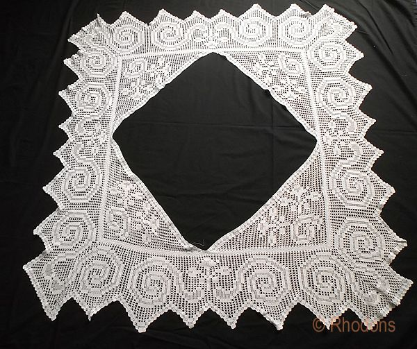 Vintage Crochet Tablecloth Border or Flounce Trim