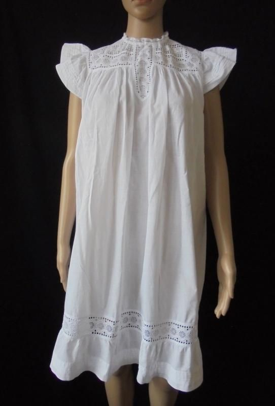 Childs Pinafore With White Work Broderie Anglaise, Victorian, Edwardian Era