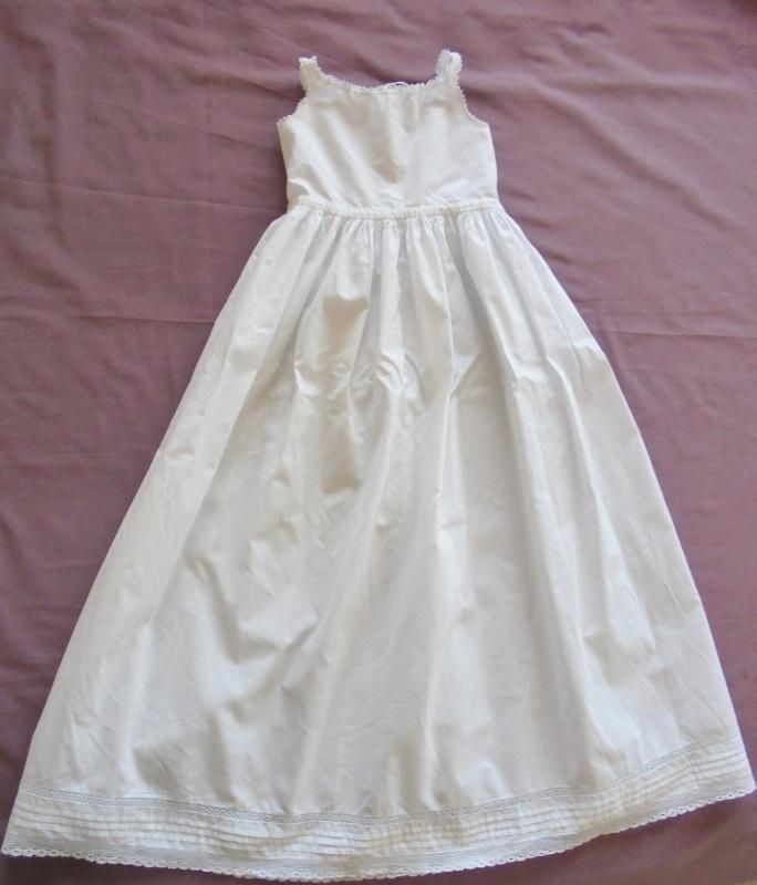 Victorian Petticoat For Christening Gown Fine Crochet Lace