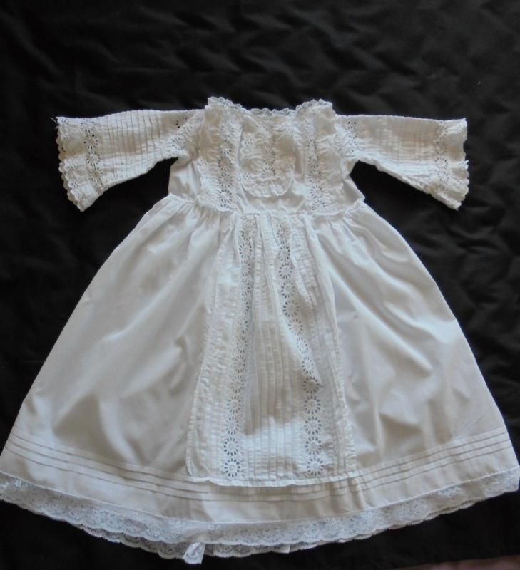 Victorian Baby Dress Broderie Anglaise Handmade Circa