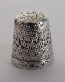 Sterling Silver Thimble, Henry Griffith & Sons,  Birmingham 1969