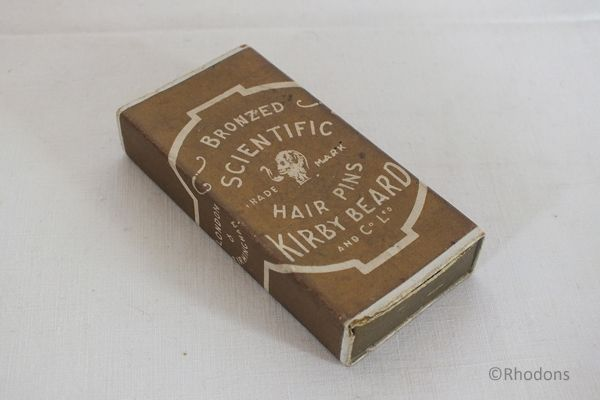 Kirby Beard Co Ltd Scientific Hair Pins Box, Early 1900s