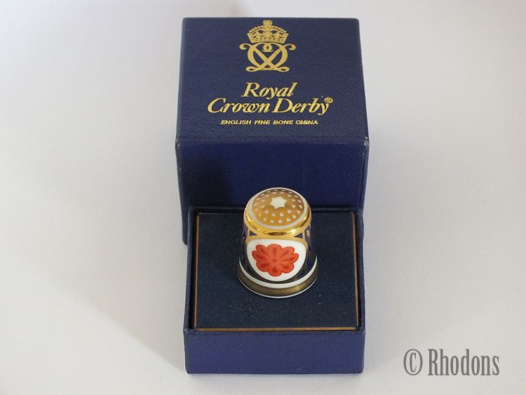 Royal Crown Derby Ambassador Thimble, Boxed. 1986