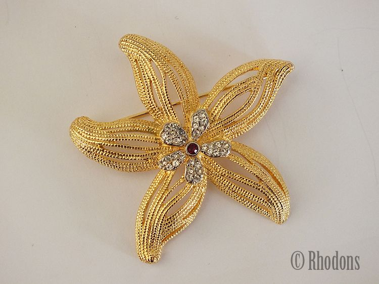 Vintage Flower Brooch, Signed Musee des Arts Decoratifs, Paris