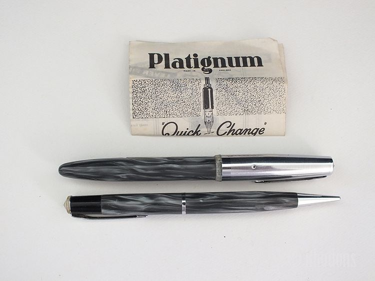 Platignum Fountain Pen & Propelling Pencil