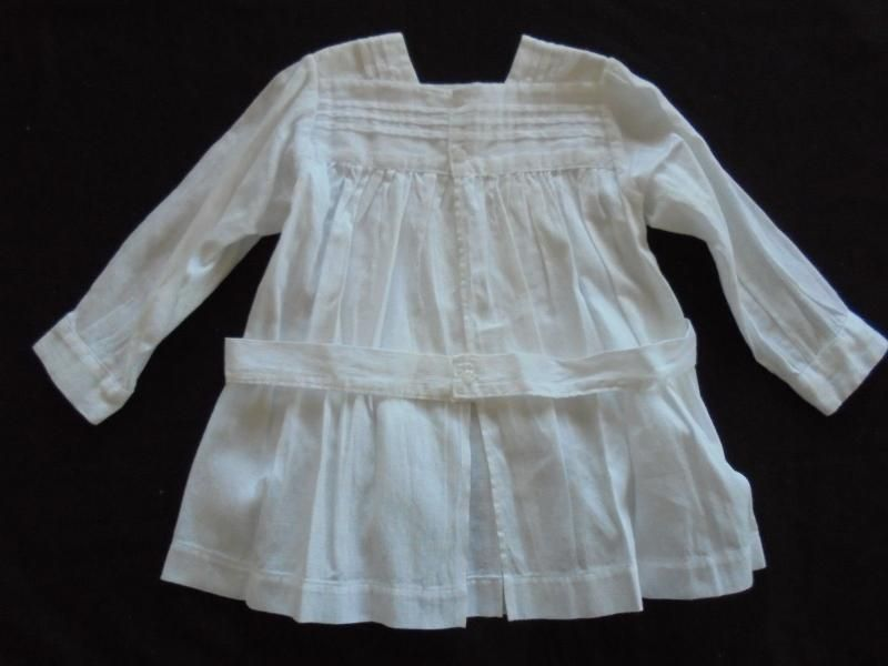 19th Century Pleated Pinafore Dress With Sleeves For Baby Boy