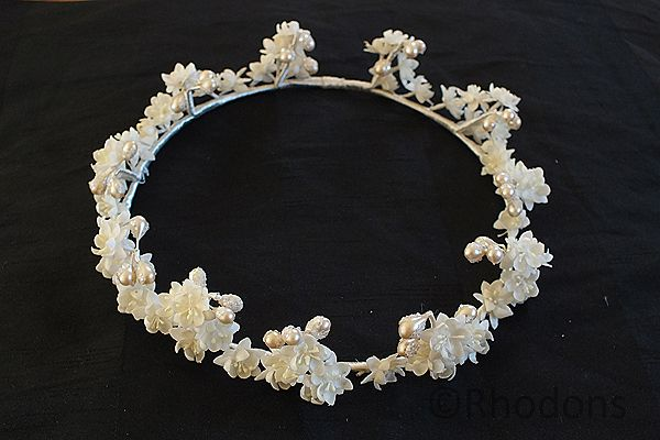 Brides Tiara, Floral Headpiece, Crown