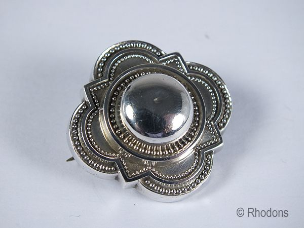 Victorian Silver Mourning Brooch