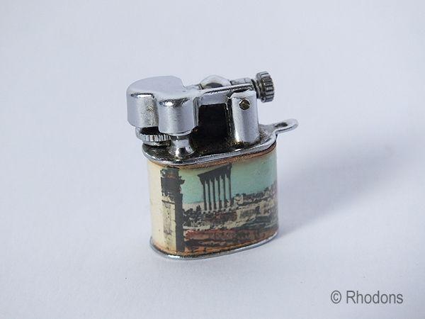 Miniature Lift Arm Fob Charm Lighter, Souvenir of Libya