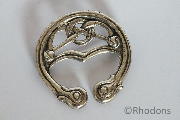 Iona Sterling Silver Iain MacCormick Celtic Brooch. Circa 1950s