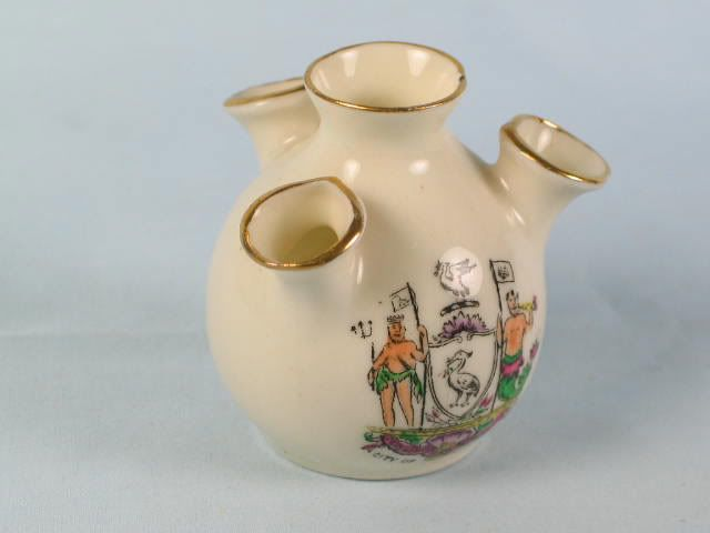 Crested China Tulip Vase With Arms Of Liverpool.