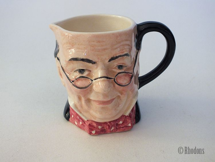 Miniature Toby Character Jug, Creamer, Mr Pickwick, By Lancaster Sandiland Pottery