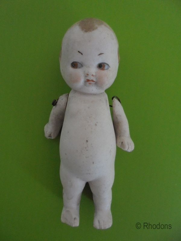 Antique All Bisque Kewpie Doll 4.1""