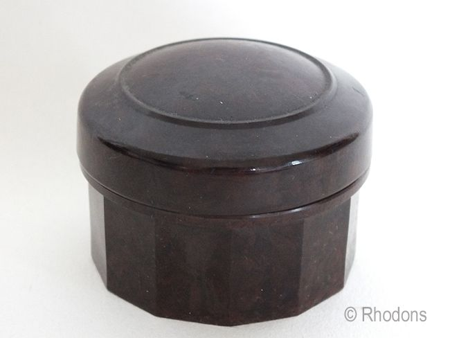 Bakelite Lidded Pot, Cream Pot. Circa 1930s