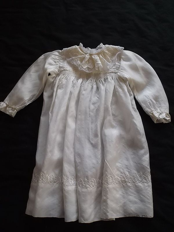 Edwardian Silk & Lace Baby Dress