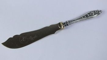 Edwardian Silver Handled Butter Knife