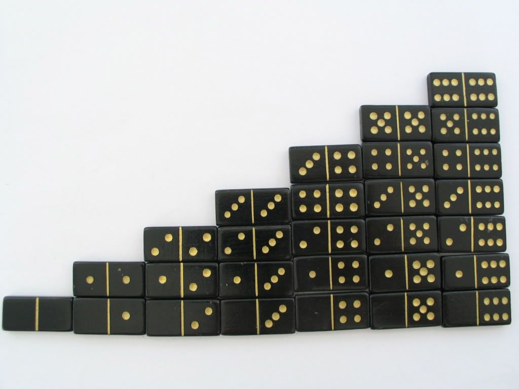 Miniature Double Six Dominoes