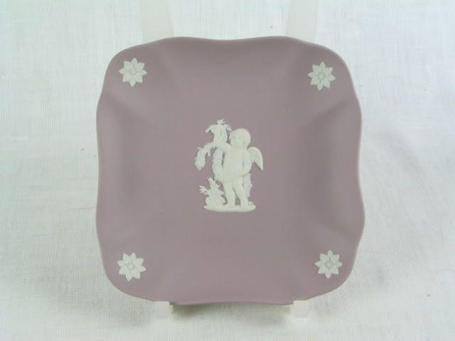 Wedgwood Lilac Jasperware Dish, Cherub, 1963