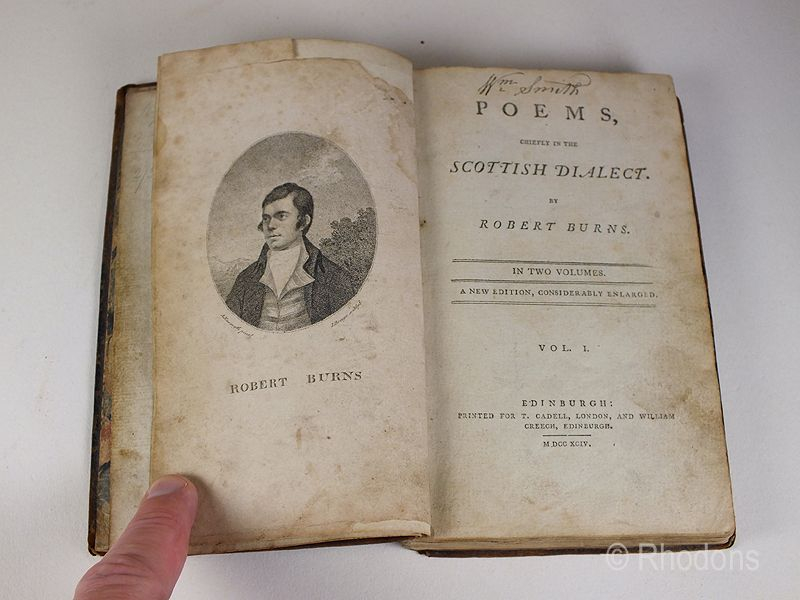 Robert Burns Poems Chiefly In The Scottish Dialect 1794 Edition