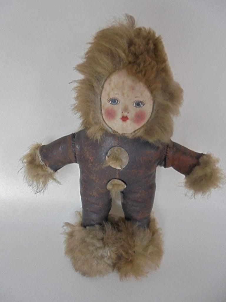 Eskimo Face Mask Cloth Doll, Circa 1930s
