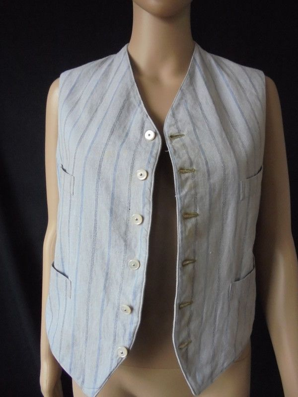 Victorian Waistcoat With MOP Buttons Circa 1880s