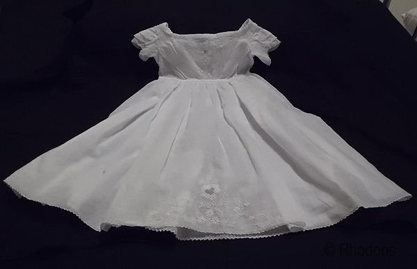 Victorian Baby Dress, Gown. Ayrshire Embroidery & White Work