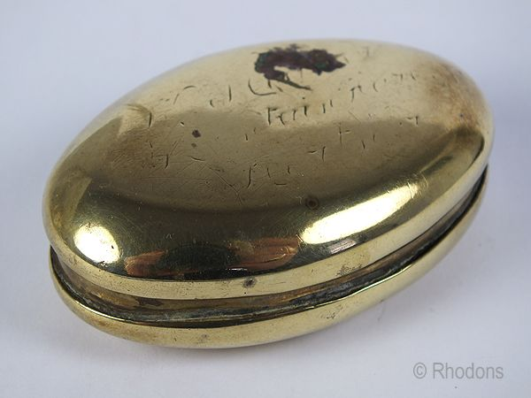 Antique Brass Snuff Box.