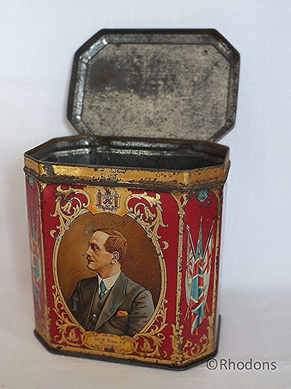 Barnsley British Cooperative Society Ruby Jubilee Tin Casket 1862-1932 - Antique Commemorative Advertising Tins