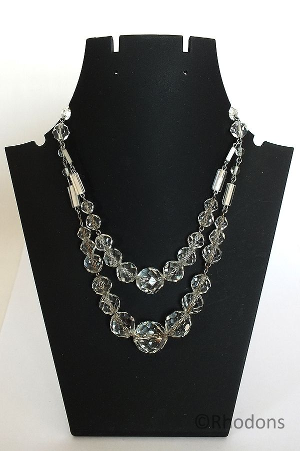 Crystal Glass Necklace, Circa 1950s