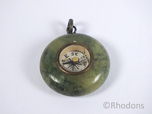 Pocket Watch Chain Fob Compass