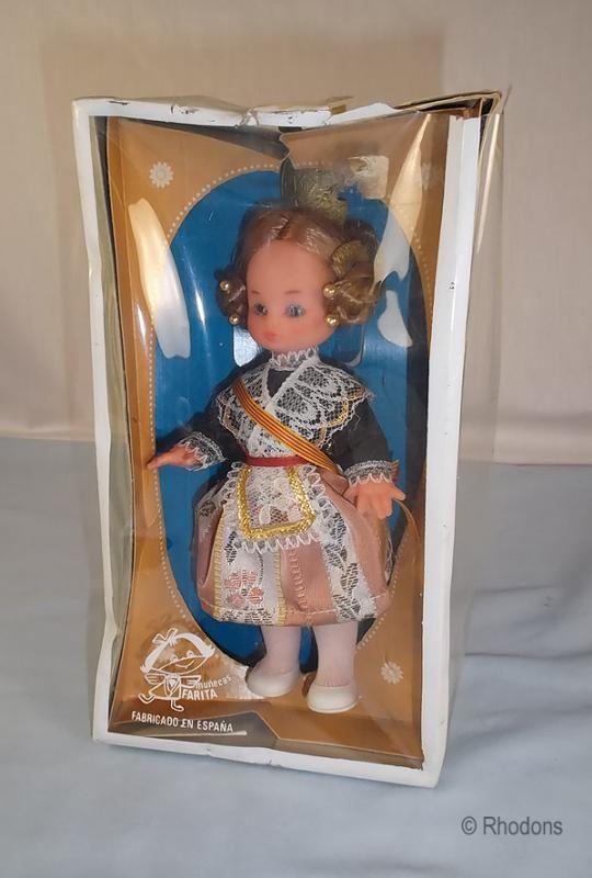Monny Farita Spain Souvenir Doll, Boxed, Circa  1950/60s