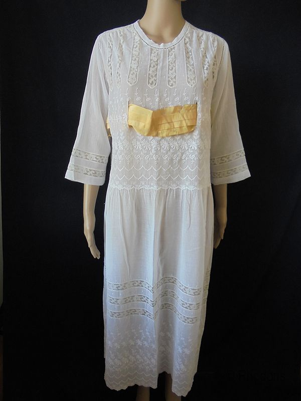Edwardian Cotton Muslin Dress